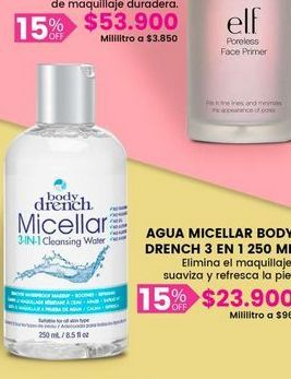 Oferta de Agua micellar Bdoy Drench por $23900