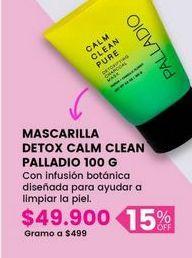 Oferta de Mascarilla detox calm clean PALLADIO por $49900