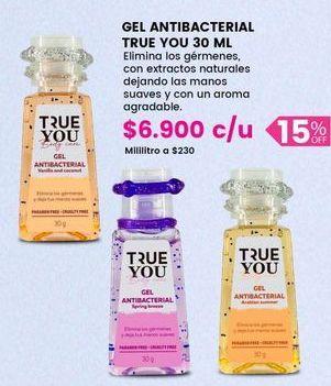 Oferta de Gel antibacterial TRUE YOU por $6900