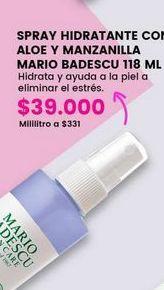 Oferta de Spray hidratante con aloe y manzanilla MARIO BADESCU por $39000