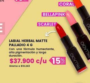 Oferta de Labial herbal matte PALLADIO por $37900