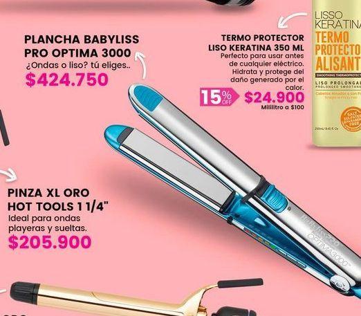 Oferta de Plancha babyliss pro otima por $424750