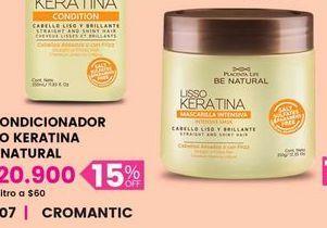 Oferta de Acondicionador LISO KERATINA be natural por $20900