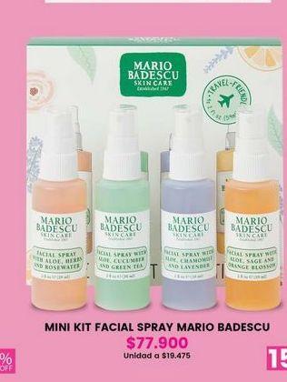 Oferta de Mini kit facial spray MARIO BADESCU por $77900