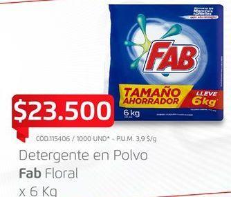Oferta de Detergente en polvo Fab por $23500