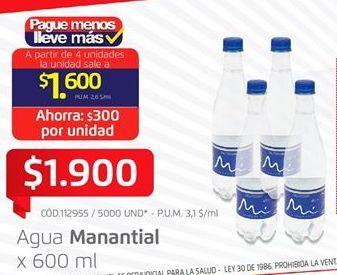 Oferta de Agua Manantial por $1900