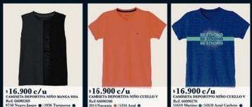 Oferta de Camiseta niño por $16900