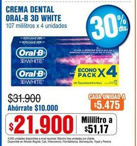 Oferta de Crema dental Oral B por $21900