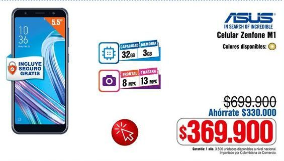Oferta de Celular libre Asus por $369900