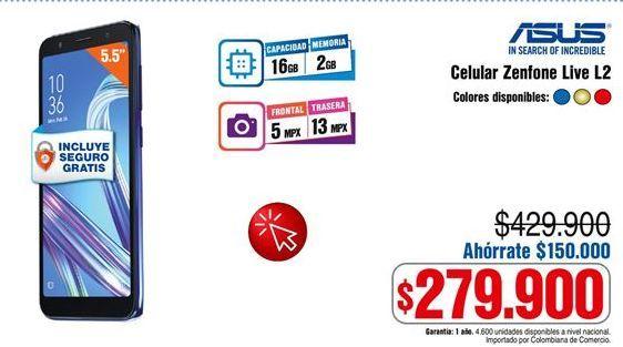 Oferta de Celular libre Asus por $279900