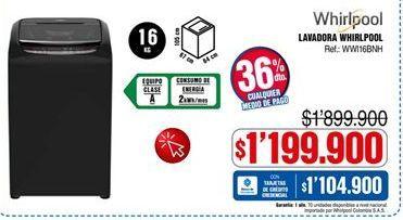 Oferta de Lavadora carga superior Whirlpool por $1199900