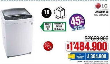 Oferta de Lavadora carga superior LG por $1484900