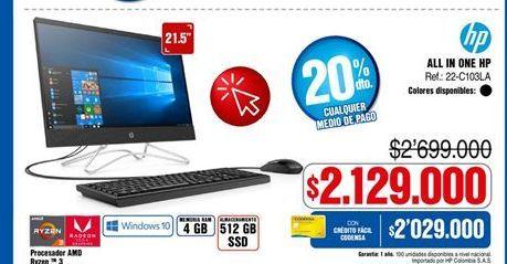 Oferta de Computador de mesa HP por $2129000