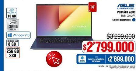 Oferta de Computador Portátil Asus por $2799000