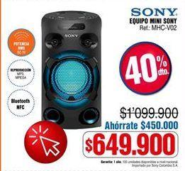 Oferta de Equipo de sonido Sony por $649900
