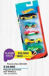 Oferta de Carro de juguete Hot Wheels por $24990