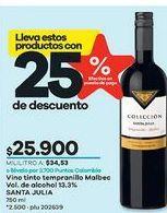 Oferta de Vino tinto Santa Julia por $25900