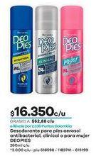 Oferta de Desodorante spray Deo Pies por $16350