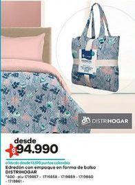 Oferta de Edredón Distri Hogar por $94990