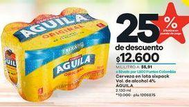 Oferta de Latas de cerveza Águila por $12600