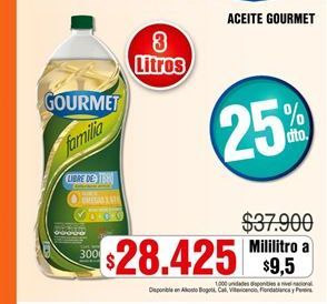 Oferta de Aceite Gourmet por $28425