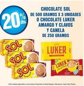 Oferta de Chocolate Sol por