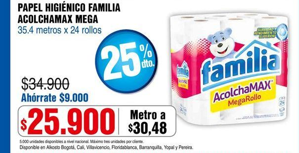 Oferta de Papel higiénico Familia por $25900