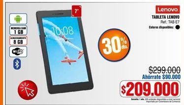 Oferta de Tablet Lenovo por $209000
