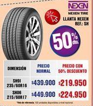 Oferta de Llantas Nexen por $219950