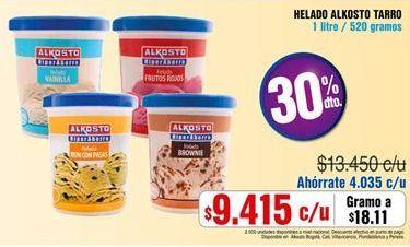 Oferta de Helados Alkosto por $9415