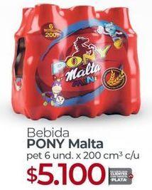 Oferta de Bebidas Pony Malta por $5100