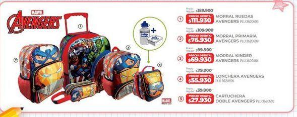 Oferta de Morral infantil Marvel por $111930