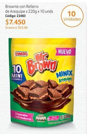 Oferta de Brownies Mr Brown Minix por $7450