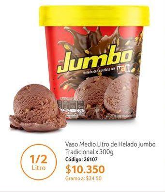 Oferta de Helado de chocolate Jumbo por $10350