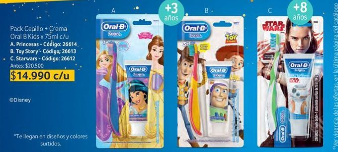 Oferta de Cepillo de dientes infantil Oral B por $14990
