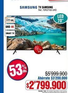 Oferta de Smart tv Samsung por $2799900