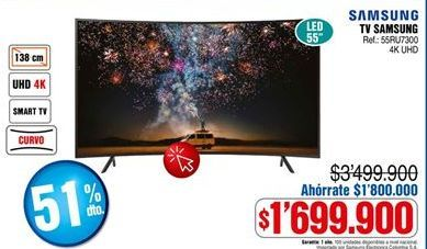 Oferta de Smart tv Samsung por $1699900