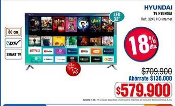 Oferta de Smart tv Hyundai por $579900