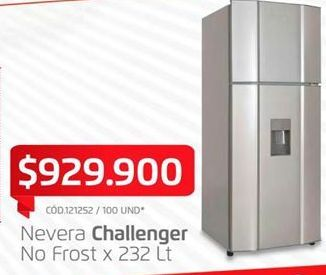 Oferta de Heladera Challenger por $929900