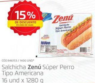 Oferta de Salchicha perro caliente Zenú por