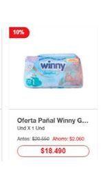 Oferta de Pañales Winny por $18490