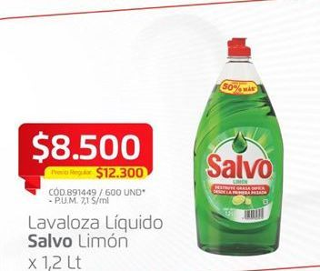 Oferta de Lavaloza Salvo por $8500