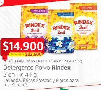 Oferta de Detergente en polvo Rindex por $14900
