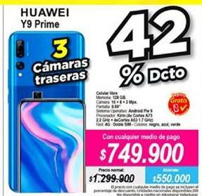 Oferta de Celular libre Huawei por $749900