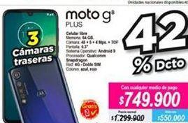 Oferta de Celular libre Motorola por $749900