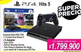 Oferta de PlayStation 4 PS4 por $1799900