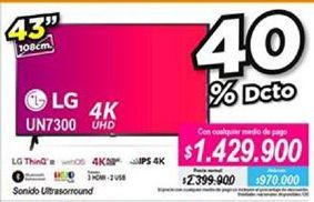 Oferta de Tv led 43'' LG por $1429900