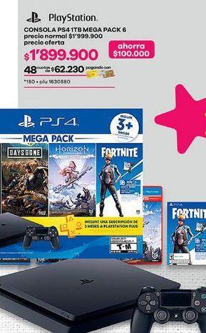 Oferta de PlayStation 4 PS4 por $1899900