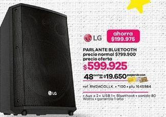 Oferta de Parlantes bluetooth LG por $599925