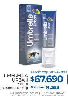 Oferta de Crema protectora solar Umbrella por $67690